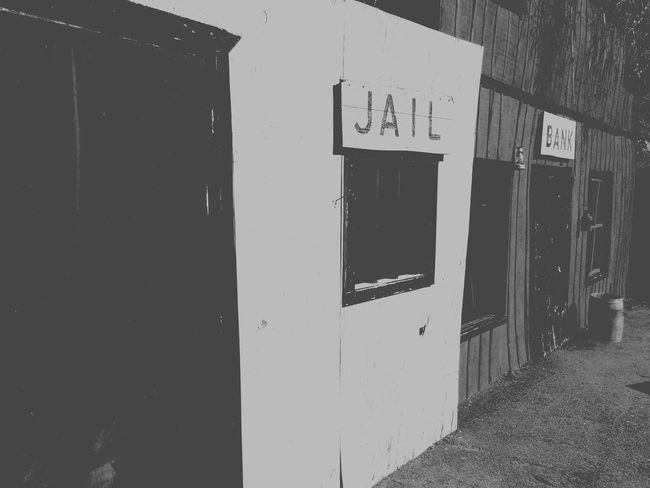Blackandwhite Cowboy 1800s Jailhouse Old Bank Art On Display  Wildwest Julian California Love Goldrush