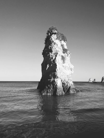 Sea Water Nature Beauty In Nature Outdoors Horizon Over Water Beach No People Sky Day Sea Life Clear Sky Black & White Relaxing Moments Scenics Rock Formations Rock Formations On The Sea