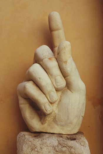 Giant hand. Capitol. Rome Capitol Fragment Hand Sculpture Antique Pointing Fingers Marble Marbledstone Maximus