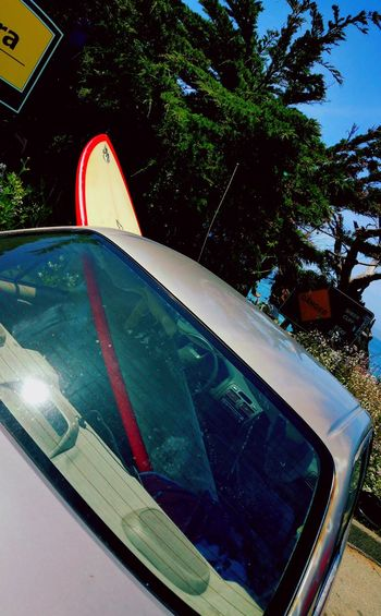 My Year My View Getting Around Surfboard In Car Surfboard Transportation Surfing Recreational Activities  Great Day  Relaxing Streetphotography Relaxing Moments Check This Out Still Life Photography Outdoors