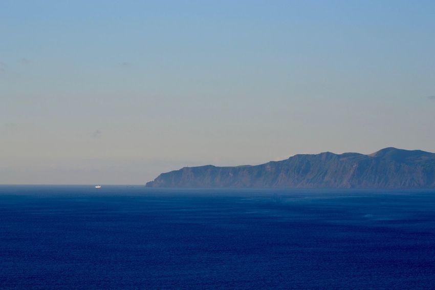 Ponta dos Rosais Atlantic Azores Açores Pico Volcano Azores Portugal Blue Deep Blue Sea Horizon Idyllic No People Non-urban Scene Sao Jorge Island Scenics - Nature Sea Sky Tranquil Scene Water Waterfront