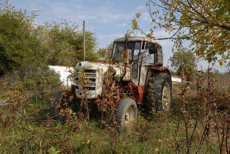 Old Tractor Abandoned