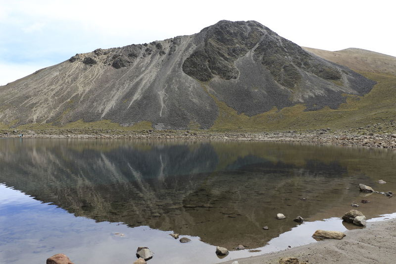 Laguna De La Luna Lake Lakeshore Mountain Nature Nevado De Toluca Physical Geography Reflection Rock - Object Rock Formation Scenics Standing Water Tranquil Scene Tranquility Volcanic Landscape Volcano Volcano Crater Water