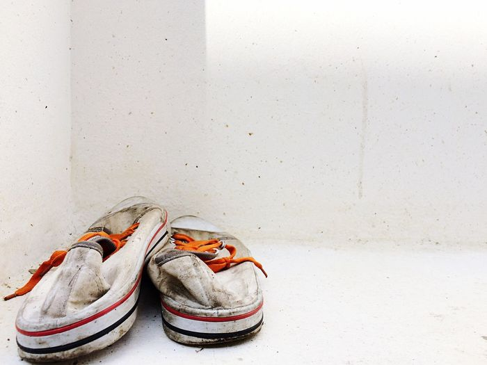 Once forgotten Backgrounds Wallpaper Old Dirty EyeEmNewHere Close-up Day Sport No People Canvas Shoe Indoors  Shoe EyeEm Selects Leftbehind Forgotten Used White White Background White Color Outdoors