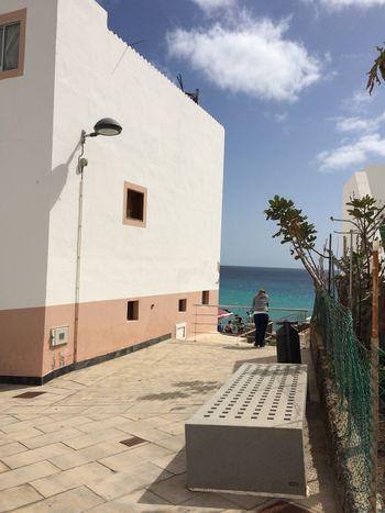 Fuerteventura Sunlight Sea Architecture Woman Looking At Sea Sommer Summertime Summer