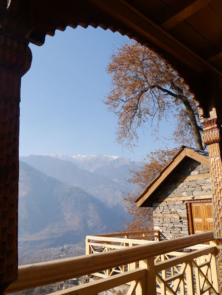 Architecture Beauty In Nature Blue Built Structure Day Growth Himalayan Range Idyllic Kullu Valley Landscape Mountain Mountain Range Naggar Castle Nature No People Non-urban Scene Scenics Sky Tranquil Scene Tranquility Travel Destinations Tree