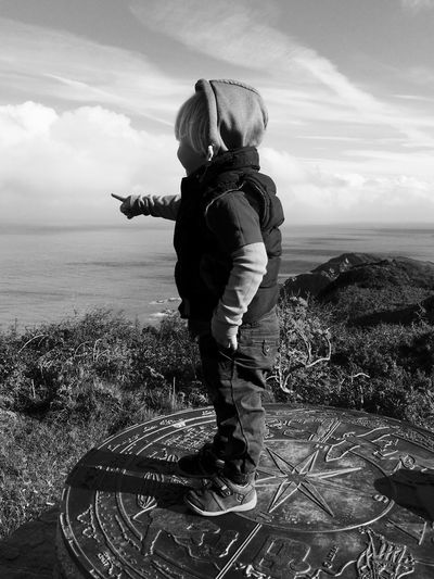 Go west, go south-west, okay go to Lundy Island Full Length Sky Real People Scenics Cloud - Sky Outdoors Nature Lifestyles One Person Sea Water Day Beauty In Nature Boy Child Photography