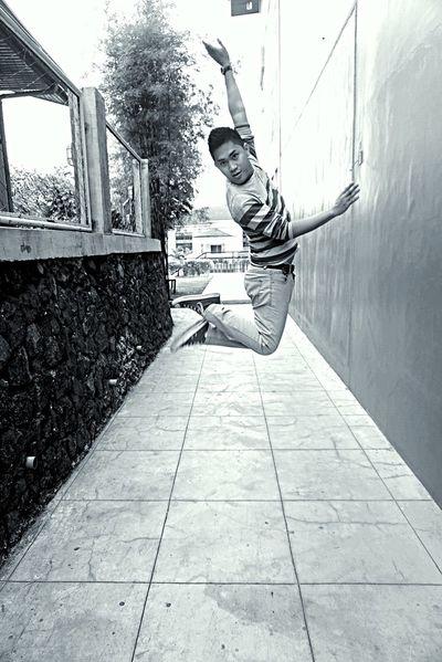 Jump Light EyeEm Eyeem Philippines Taking Photos People Blackandwhite Moments Male Daleyphotograph