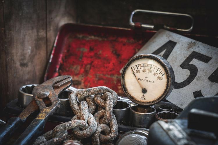 Old rusty gauge