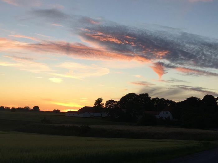 Sunset over Northwest Sealand Denmark