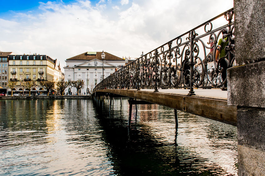 Architecture Bridge - Man Made Structure Building Exterior Built Structure City Cloud - Sky Day Large Group Of People Outdoors People River Sky Travel Destinations Water