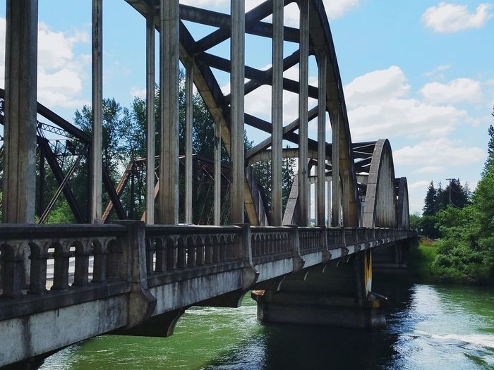 Bridge Bridge - Man Made Structure Architecture No People Water Cloud - Sky Sky Nopeople No People, City Jefferson Oregon River Friends Beauty