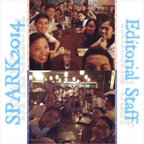 Kaon pirmi ! Dinnerdate Spark2014editorialstaff Penongs Bondingkaayo LastNight 31114
