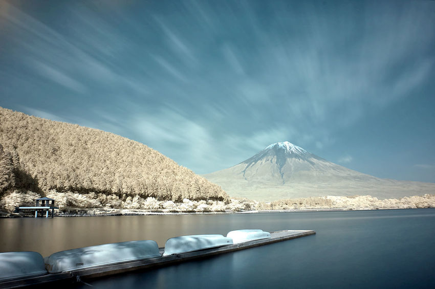 Infrared Infrared Color Infrared Photography Ir Photography Mountain Mt.Fuji Outdoors Sky