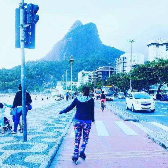 Patins Leblon Beach Leblon - Rio De Janeiro Curtindo Fim.de Tarde City People One Person Move Patinage Nature