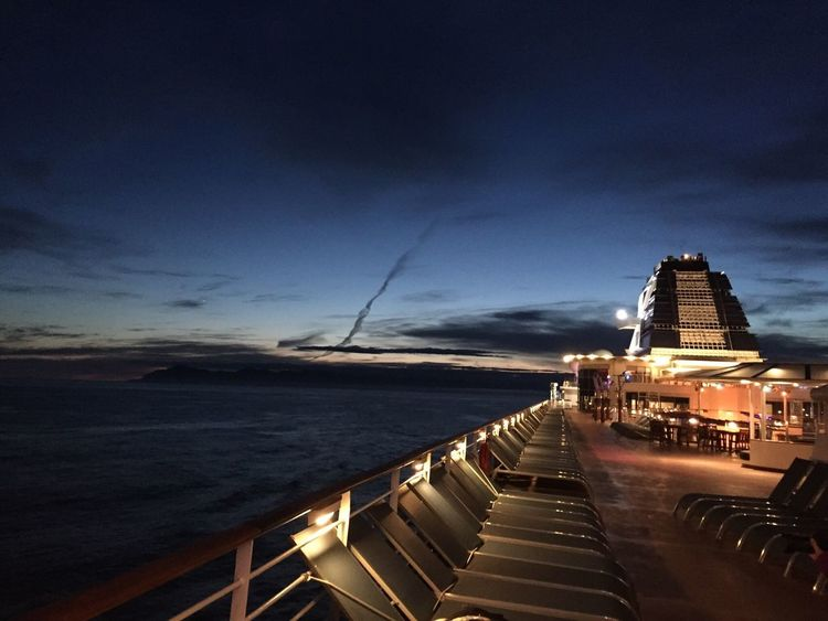 Cruising Sky Sea Water Travel Destinations Outdoors No People Horizon Over Water Nature Nautical Vessel Cruise Ship Night Lights Storiesbydebbie Celebrity Cruises