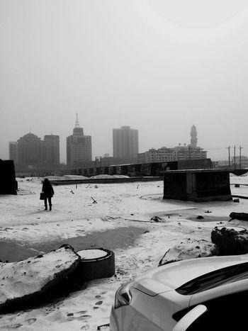 长这么大头回看到下完雪,就有沙尘暴 First Eyeem Photo