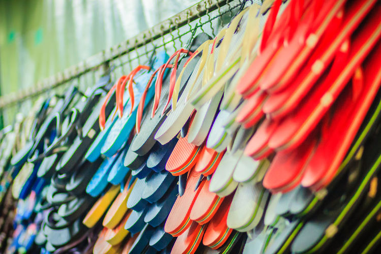 Colorful flip flop sandals in store at Khao San Road night market, Bangkok, Thailand. Khao San Rd Khao San Road KhaoSan Khaosan Rd. Khaosandroad Sandals Tourist Tourist Attraction  Tourists Flip Flop Flip Flops Foot Massage Foot Massage Foot Massage Area Khao San Khao San Knok Wua Khao San Rd. Khaosan Road Khaosanroad Night Market Night Market In Thailand Night Market, Tourist Destination
