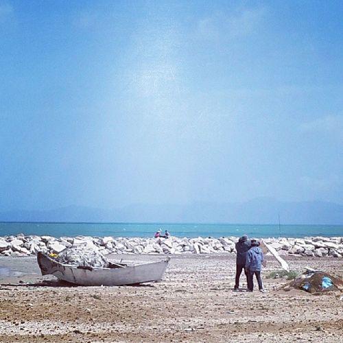Hamhama Hamhama Hammamlif S9ala Boat people sky instasky sea beach plage ilovethisplace