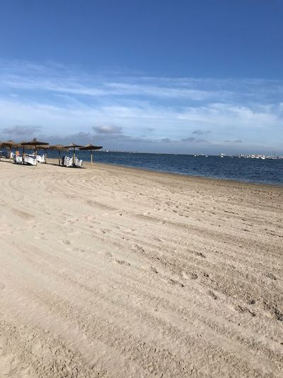 Beach Land Water Sea Sky Sand Scenics - Nature Beauty In Nature Cloud - Sky Tranquility Nature Tranquil Scene Day Incidental People Holiday Trip Horizon Over Water EyeEmNewHere