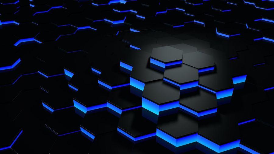Full frame shot of blue lights