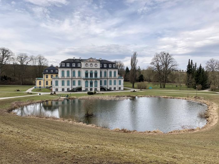 Schloss Wilhelmstal Architecture Building Building Exterior Built Structure Cloud - Sky Day Grass House Lake Nature No People Outdoors Plant Reflection Sky Travel Destinations Tree Water