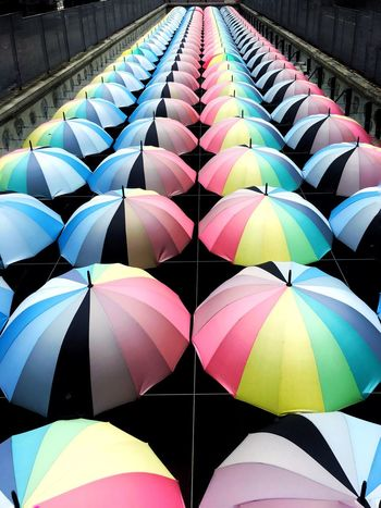 Multi Colored Outdoors Day Close-up No People Colors Rainbow Umbrella Rainbow Umbrella Rainbow Bridge Outdoor