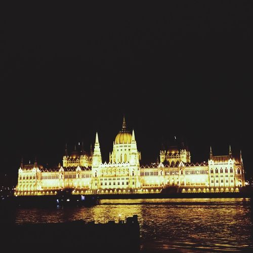 Architecture Night Government Building Exterior Built Structure Travel Destinations Illuminated City Dome Cultures Sky Politics And Government Water Clear Sky No People Outdoors Budapest Parliament Travel Traveling