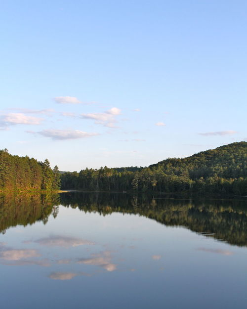 Beauty In Nature Day Idyllic Lake Landscape Nature New Hampshire No People Outdoors Reflection Scenics Sky Standing Water Tranquil Scene Tranquility Tree Water White Mountains