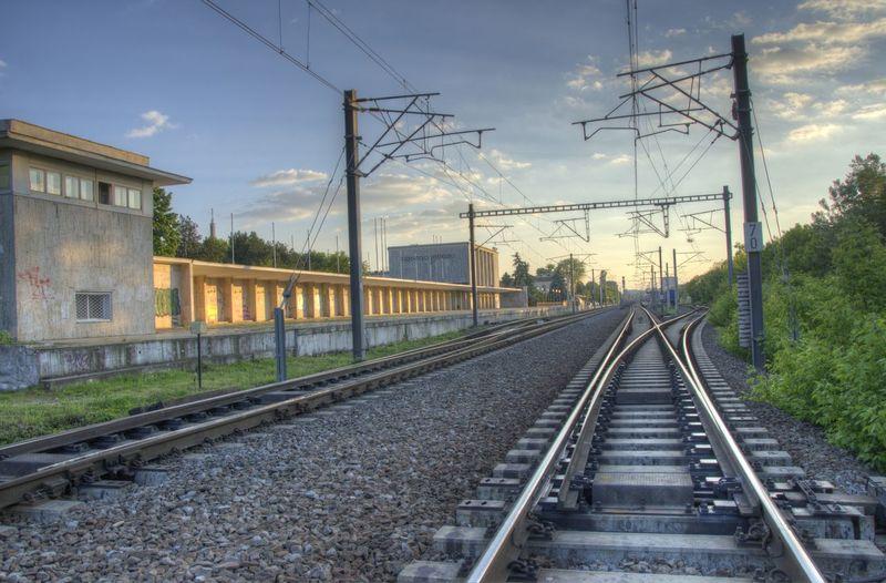 Bucharest Cable Cloud - Sky Day HDR LINE No People Outdoors Public Transportation Rail Rail Transportation Railroad Track Railway Romania Sky Sunset Train Urban