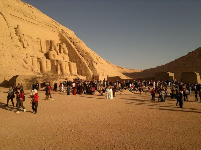 People at desert