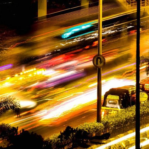 City of lights... Mumbai Traffic Road Travel Slow Shutter