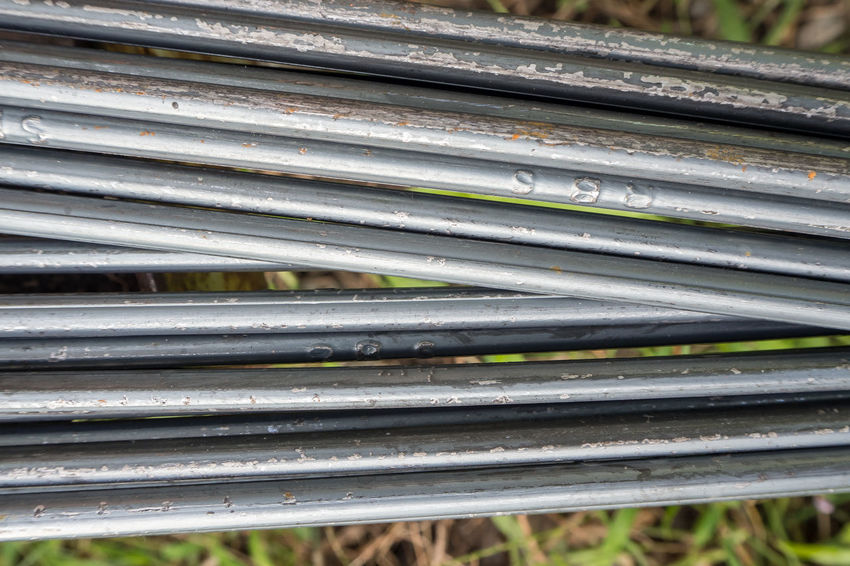 The construction steel bar image close up for background. Construction Close-up Construction Industry Construction Steel Bar Construction Work Construction Worker Corrugated Iron Day Metal No People Outdoors Pattern Steel Bars