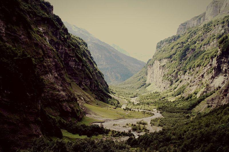 Pretty Mountain. Amazing Breathtaking Mountain Deep Hautesavoie