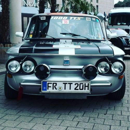Nsu Nsutts TTS Racecar Classic Car Vintage Cars Soloparking Freiburg Schauinsland More Lights Lights Chrome Smile