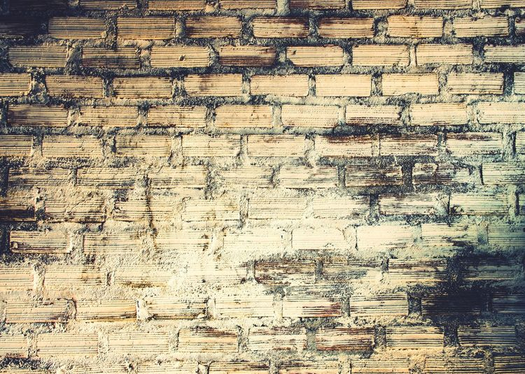 Brick Background Vintage Full Frame Backgrounds Pattern No People Textured  Day Design Abstract Architecture Wall - Building Feature Outdoors Close-up Large Group Of Objects Creativity Repetition Obsolete Abundance Arrangement Weathered