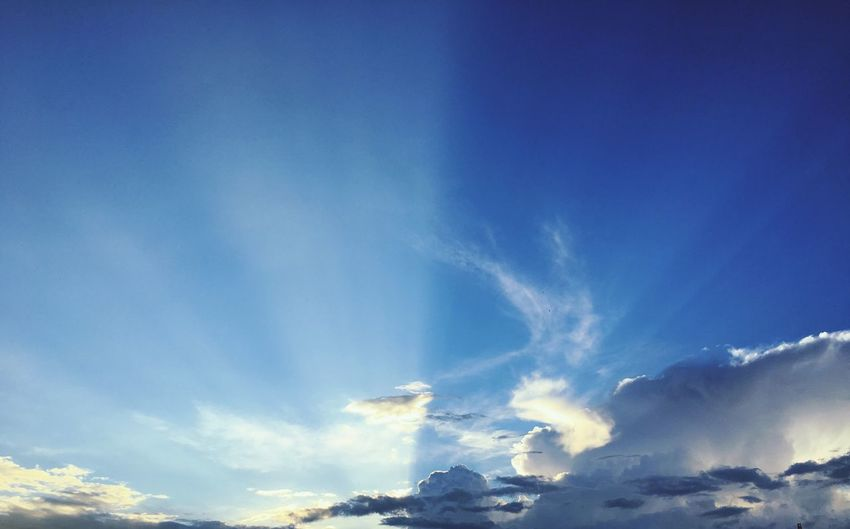 Sky Beauty In Nature Nature Blue Cloud - Sky Low Angle View Scenics Tranquility Tranquil Scene No People Sky Only Day Outdoors Backgrounds