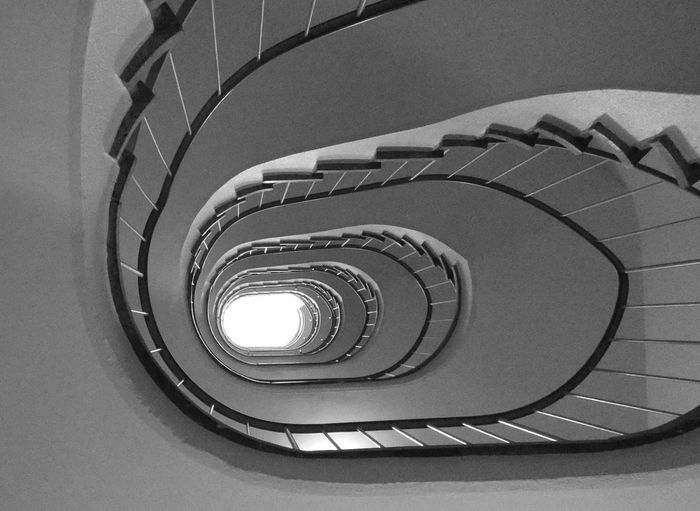 Stairway Spiral Staircase Spiral Stairs Steps And Staircases Spiral Staircase Steps Railing Architecture Built Structure Geometric Shape Circular Hand Rail Architectural Design Architectural Detail Stairs Continuity Design Round Semi-circle Repetition Circle
