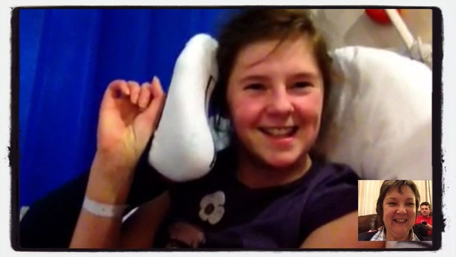 Paralysed or not, I can still get my feet to touch my head! Paralyzed Feet FaceTime Having Fun