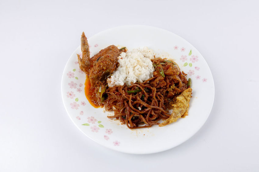 NASI AMBENG, INDONESIAN LOCAL FOOD Javanese Tradition Chinese Food Close-up Crockery Food Food And Drink Freshness Healthy Eating Indonesia Food Indoors  Indulgence Italian Food Local Food Meat Nasi Ambeng No People Pasta Plate Ready-to-eat Rice - Food Staple Serving Size Still Life Studio Shot Temptation Wellbeing White Background White Color