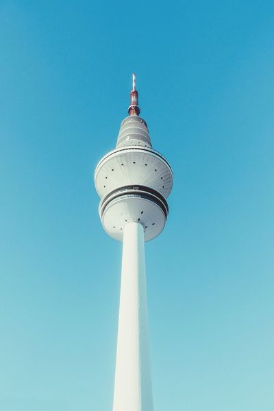 On air... Colour Your Horizn TV Tower Low Angle View Architecture Clear Sky Travel Destinations Day Tourism Built Structure Communication City Sky Blue Outdoors No People Colour Your Horizn