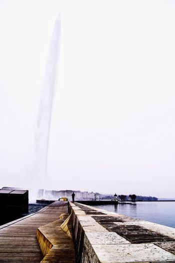 Jet d'eau Day Freshness Geneva Horizon Over Water Mountain Water Switzerland City Outdoors Your Ticket To Europe Been There. Done That.