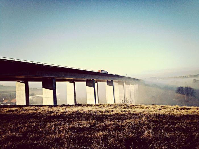 Highway Bridge transportation fog Iphonephotography Architecture