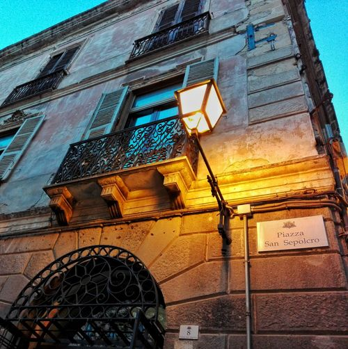 Low Angle View Architecture Built Structure Outdoors No People Building Exterior Cagliari, Sardinia Streetphotography Street Photography Street Street Lights Casteddu