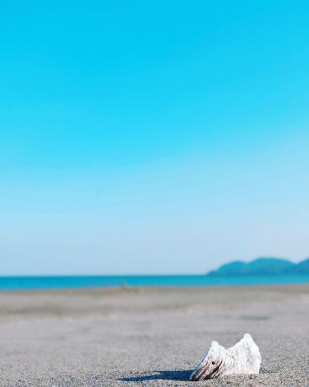 Beach Sky Water Sea Land Copy Space Blue Tranquility Scenics - Nature Tranquil Scene Clear Sky Horizon Horizon Over Water Nature Day Beauty In Nature No People Sand Outdoors