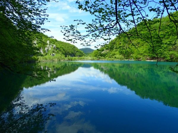 Water Scenics Reflection Tranquil Scene Beauty In Nature Nature Mountain Tree Lake Idyllic Tranquility Sky Mountain Range Outdoors Day Green Color No People Cloud - Sky Growth Landscape Sony HX400v