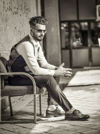 Sitting One Man Only Serious Handsome Only Men Fashion Beautiful People One Young Man Only Young Adult Businessman Elégance Men Young Men Adult One Person Cool Attitude Hipster - Person Hairstyle Business Retro Styled Iraq بغداد ❤ Baghdad , Lraq Baghdad حي الخضراء