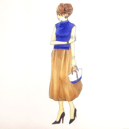 Fashion illustration! Fashion Illustration Skart Fashion Photography FashionSnap Shorthair Flare Beautiful Woman