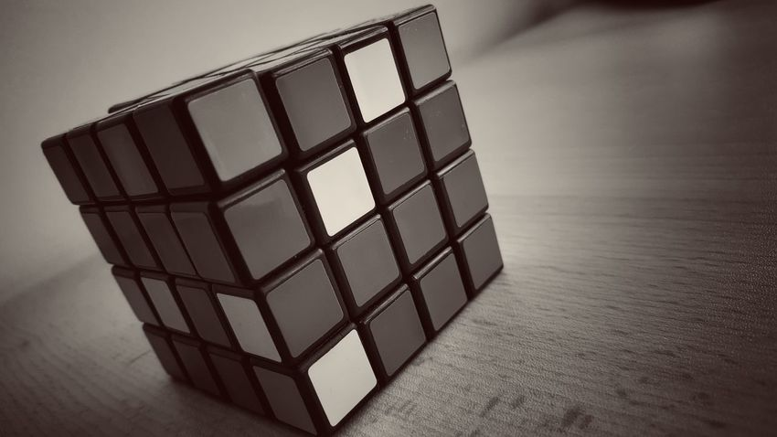 Things I Like Rubik's Cube Black&white Blackandwhite Photography Stillife Mind Game Low Angle View Blackandwhite Rubikscube Excersice Your Mind Find A Solution Solve The Puzzle Mindgames Black & White Still Life StillLifePhotography Childsplay Mindblowing Game Favorite Game Object Photography Pattern Pieces Minimalism Pattern Design Square