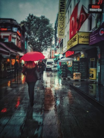 Rain Rain Wet Rainy Season Weather Real People City Protection Water Built Structure Outdoors Building Exterior Road Architecture One Person Day Men People Rainfall Adult Adults Only Kadıköy Kalkedon Kadikoyde Kadikoy